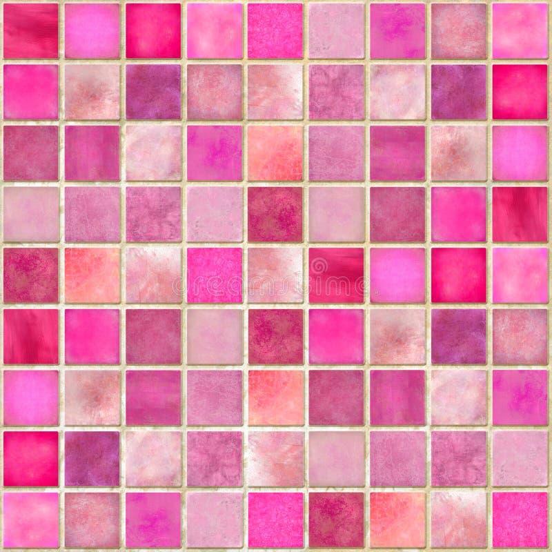 rosa tegelplatta för mosaik royaltyfri illustrationer