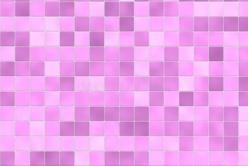 rosa tegelplattor på måfå för badrum stock illustrationer