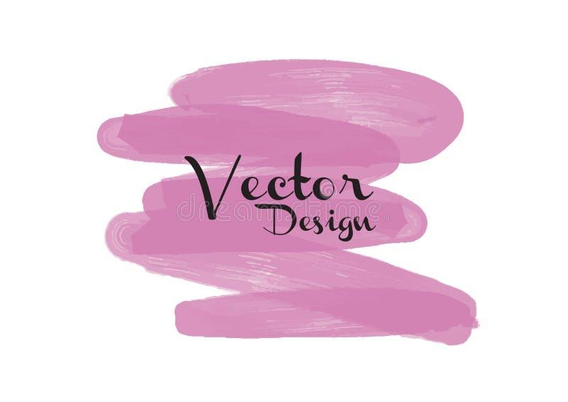 Rosa textur för vattenfärgbakgrundsdesign stock illustrationer