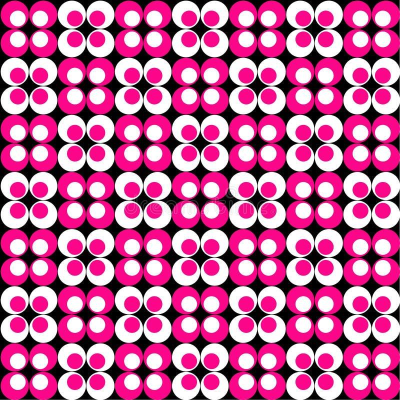 Rosa-u. weißesRetro- Muster stock abbildung