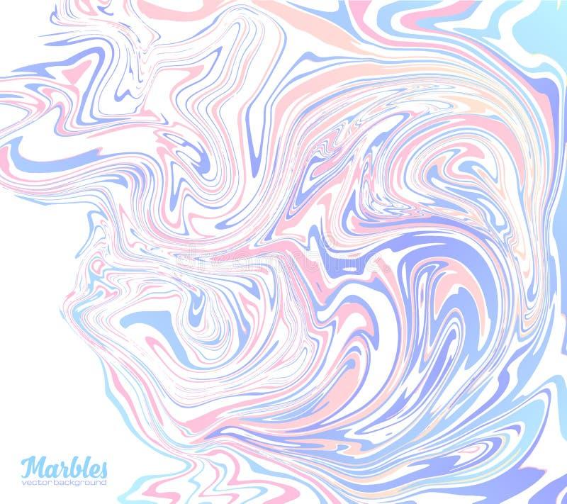 Rosa und blaue modische Farben marmorn abstrakten Vektorhintergrund stock abbildung