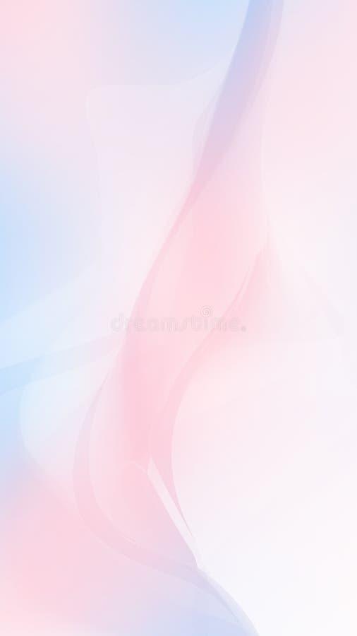 Rosa und blaue Welle lizenzfreie abbildung