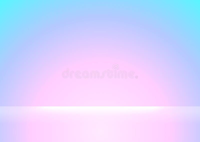 Rosa und blauer Steigungsfarbe- weich und weißerheller Glanz für den Hintergrund, Rosa und purpurrote weiche Farbsteigungstapet stock abbildung