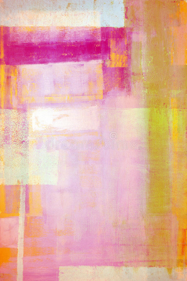 Rosa und Gelb abstrakter Art Painting lizenzfreie stockfotos