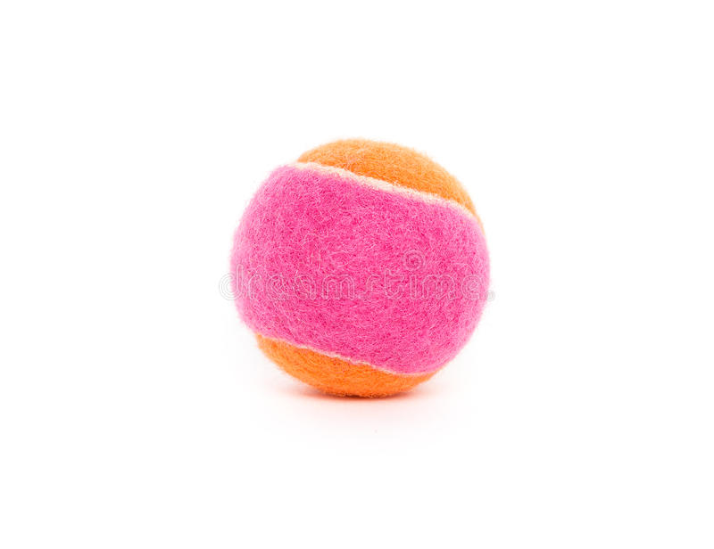 Rosa und orange Tennisball lizenzfreies stockbild