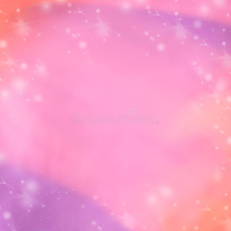 Rosa und purpurroter abstrakter Winterhintergrund Unscharfe Hintergrund Tapete lizenzfreie abbildung