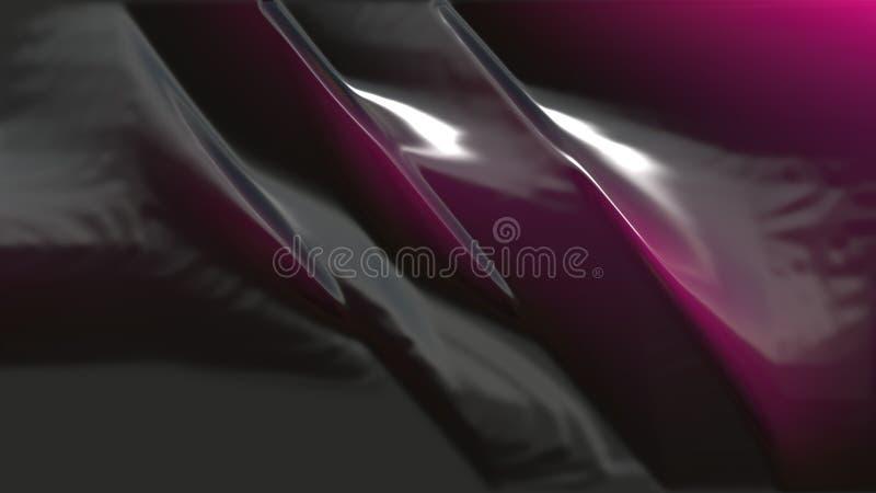 Rosa und schwarzer Plastikhintergrund stock abbildung