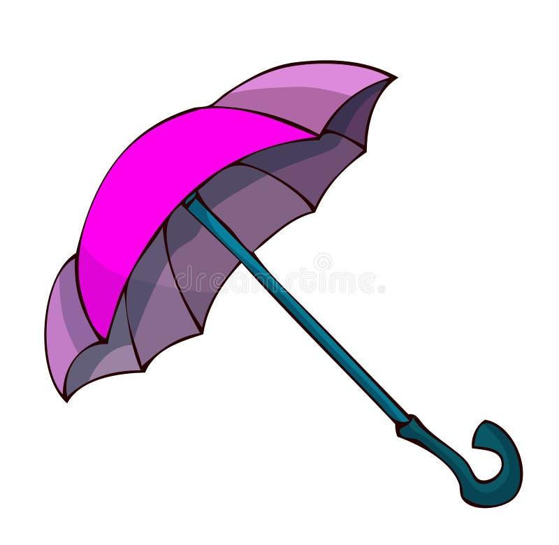 Rosa und Violet Umbrella für regnerische Tage stock abbildung