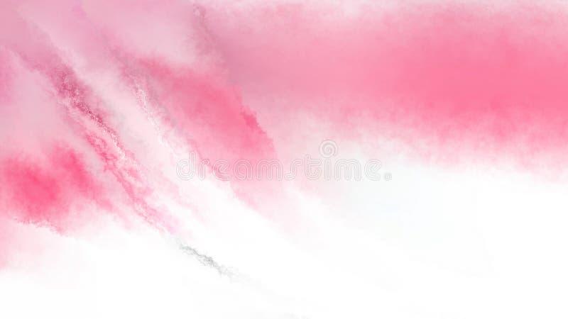 Rosa-und weißerbeunruhigter Watercolour-Hintergrund lizenzfreie abbildung