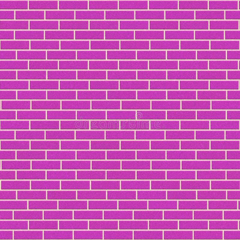 rosa vägg för tegelsten royaltyfri illustrationer