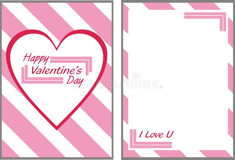 Rosa Valentinsgruß-Tageskarte lizenzfreies stockbild
