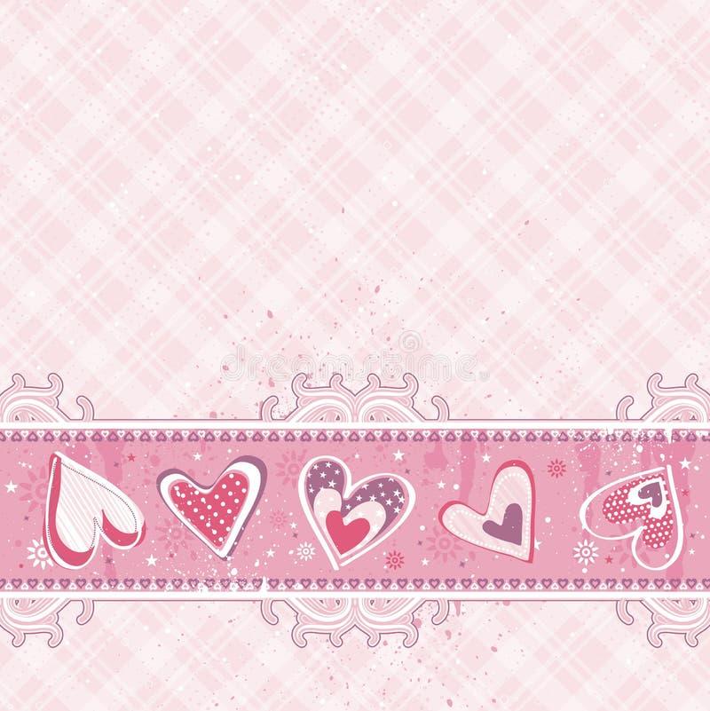 rosa valentinvektor för bakgrund royaltyfri illustrationer