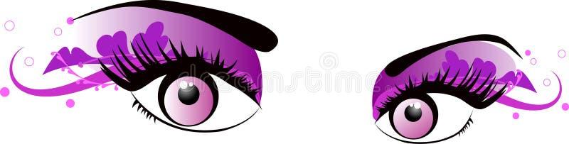 rosa vektor för ögon stock illustrationer