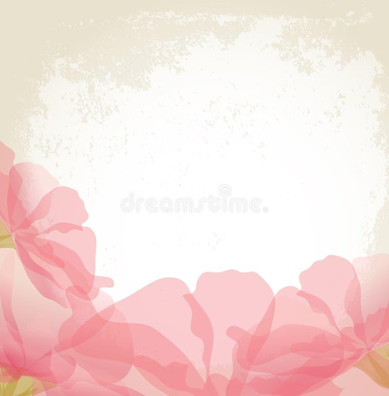 rosa vektor för blommagrungepetals stock illustrationer