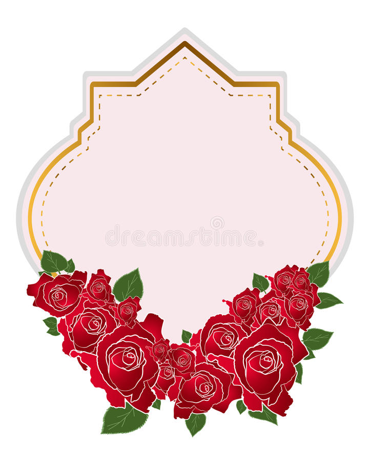 Rosa vektor för kortdesigner på vit bakgrund stock illustrationer