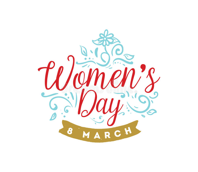 Rosa vektorabbildung Hintergrund der Frauen Tages lizenzfreie abbildung