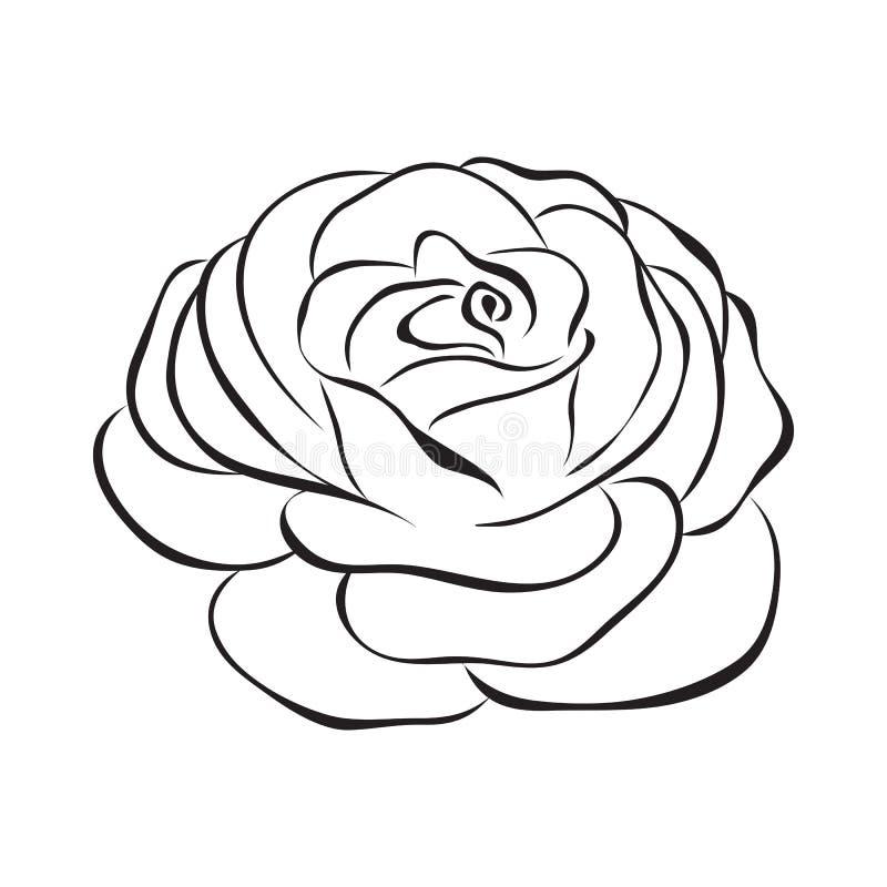 Rosa vektorsymbol stock illustrationer
