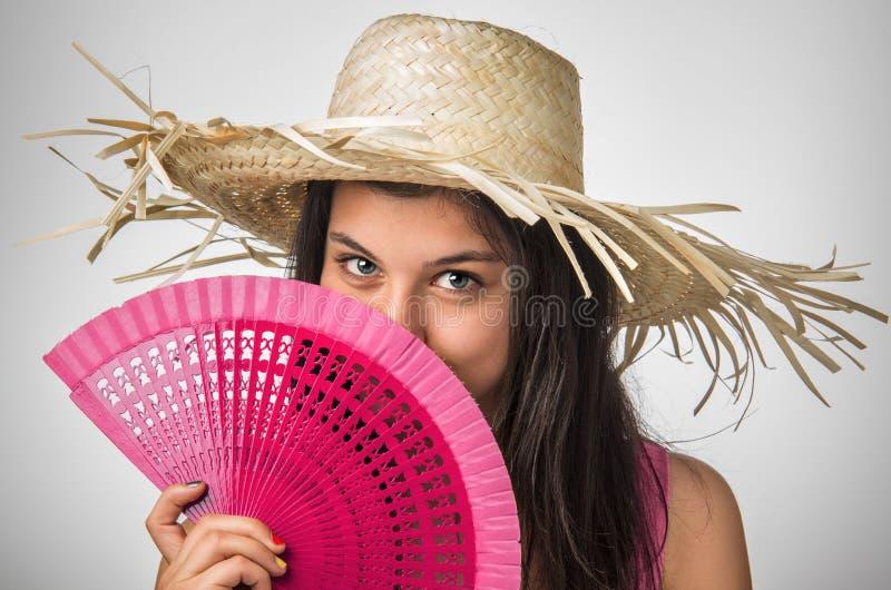 Rosa ventilator royaltyfri fotografi