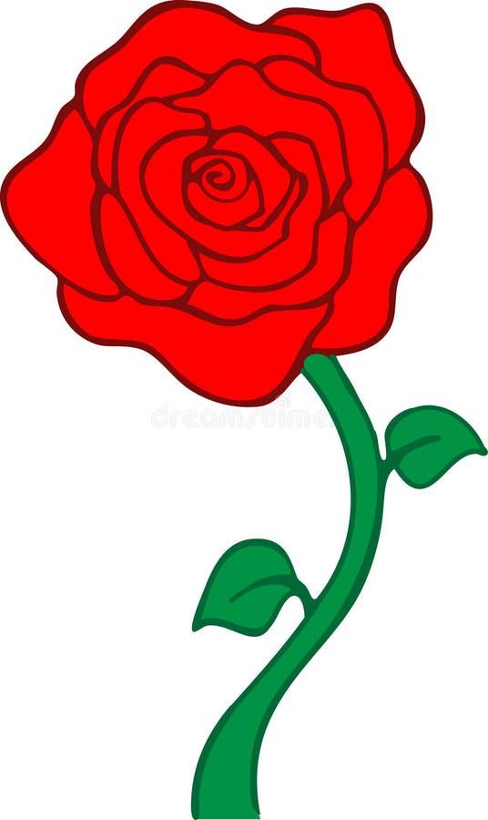 Rosa vermelha ilustração stock