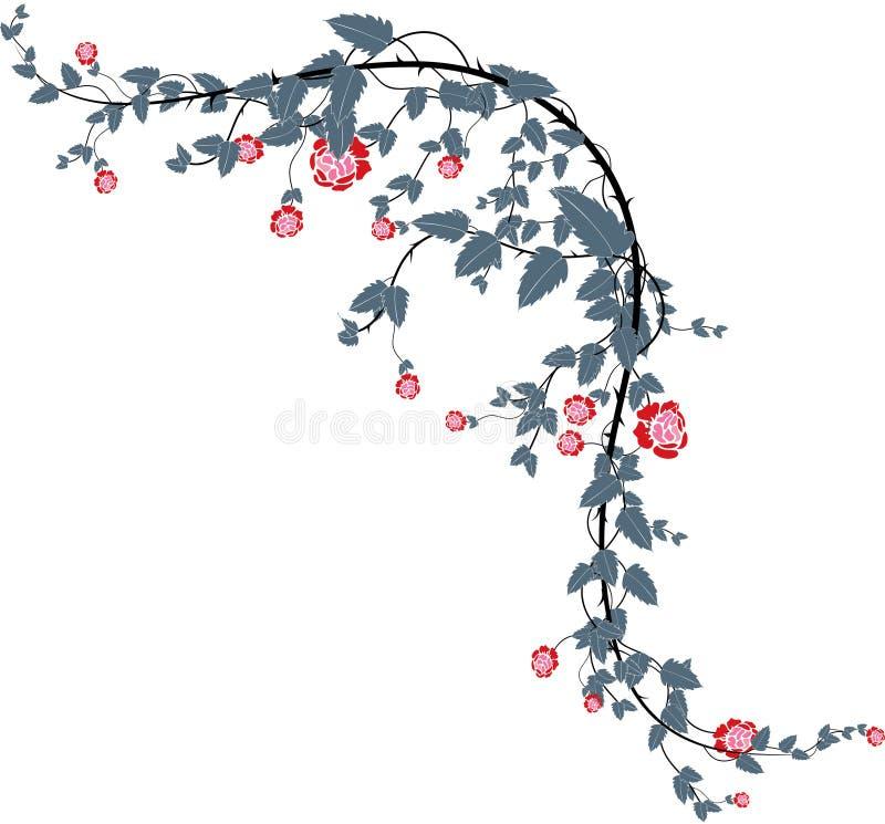 Rosa vines-1 royalty illustrazione gratis