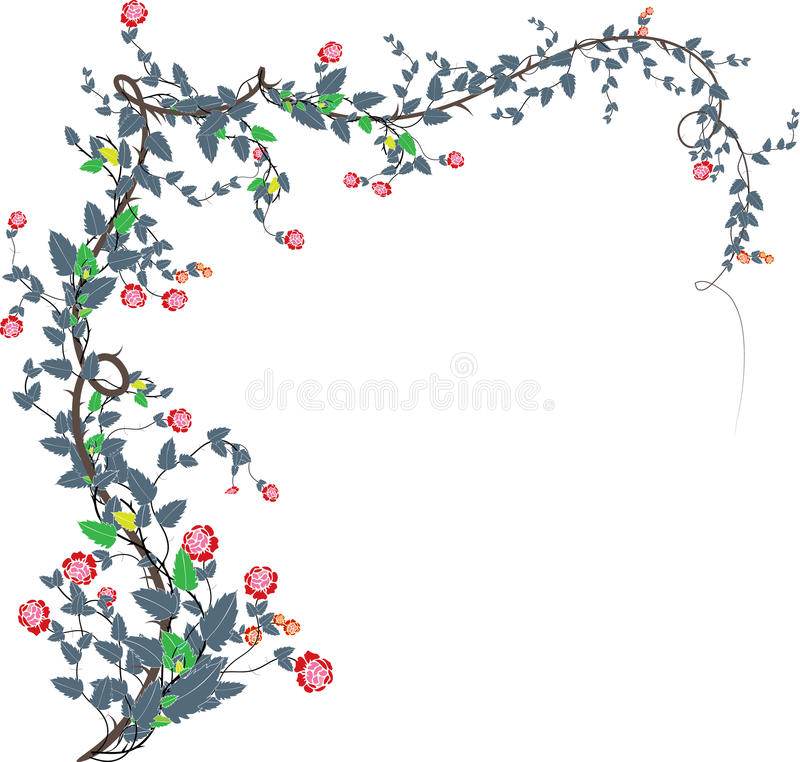 Rosa vines-2 royalty illustrazione gratis