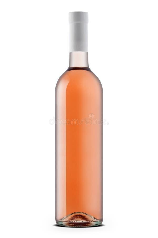 Rosa vinflaska arkivbilder