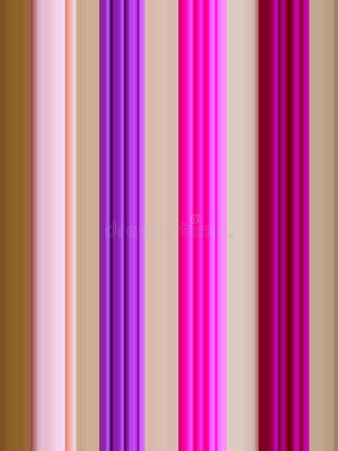 Rosa-, violette und Magentarotevertikale Linien, brauner Hintergrund stock abbildung