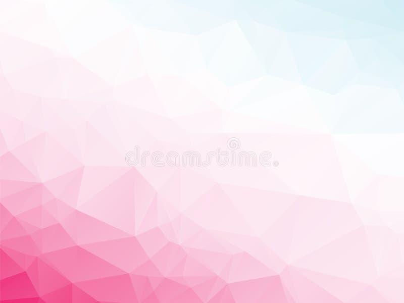 Rosa violetter weißer blauer Hintergrund lizenzfreie abbildung