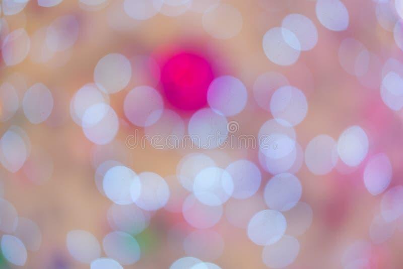 Rosa weißer bokeh Hintergrund lizenzfreie stockfotografie
