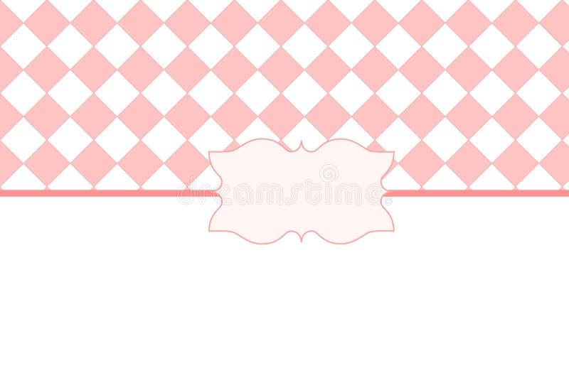 Rosa weißer Valentine Card stock abbildung