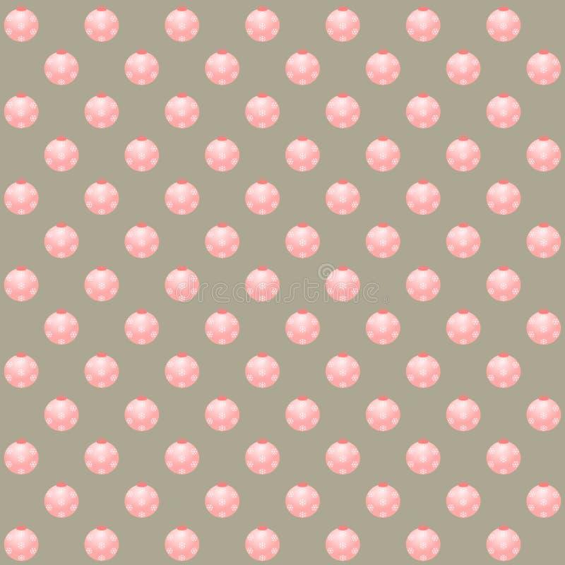 Rosa Weihnachtsbälle auf silbernem Hintergrund lizenzfreie stockbilder