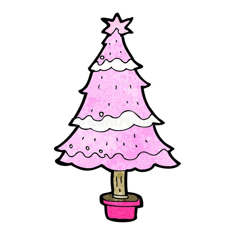 rosa weihnachtsbaum der karikatur vektor abbildung. Black Bedroom Furniture Sets. Home Design Ideas