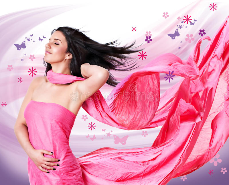 rosa wind 2 arkivfoto
