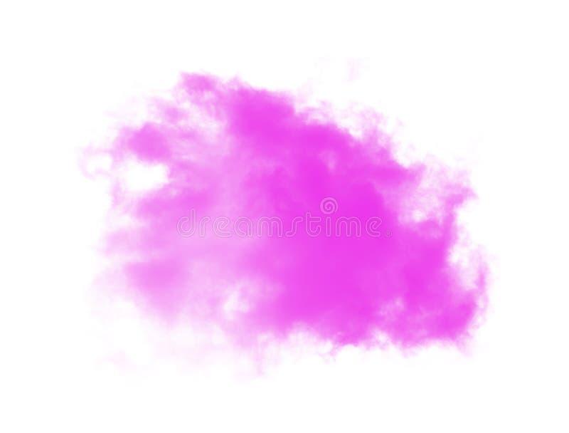 Rosa Wolken auf weißem Hintergrund lizenzfreies stockbild
