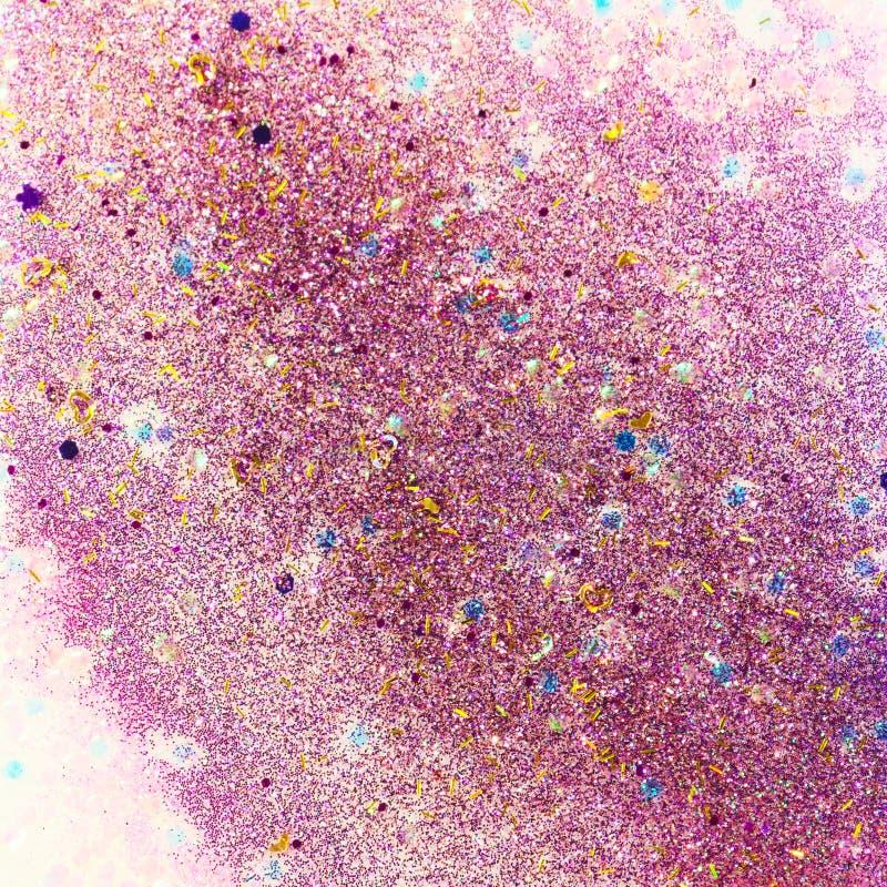 Rosa y extracto púrpura del brillo stock de ilustración