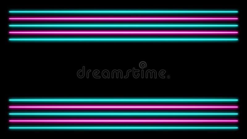 Rosa y luces de neón de la turquesa ilustración del vector