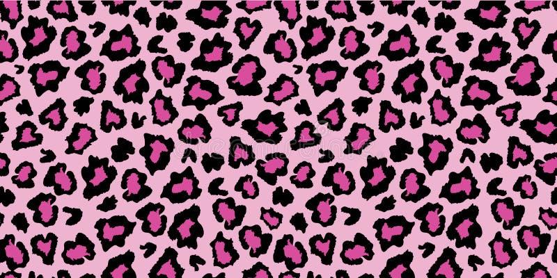 Rosa y modelo negro de la impresión de la piel de la piel del leopardo stock de ilustración
