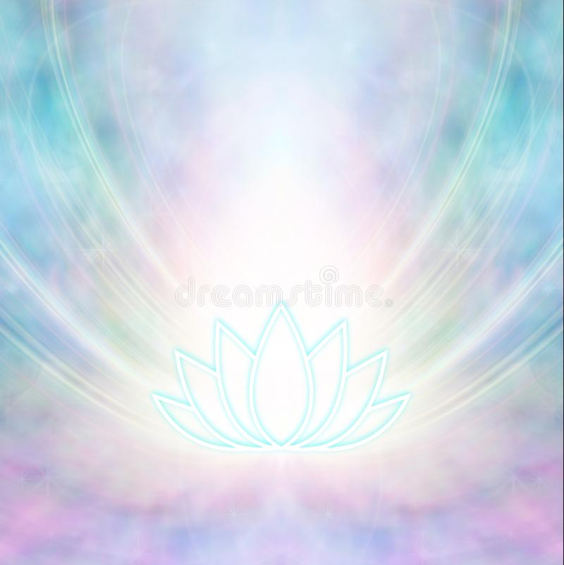Rosa y turquesa Lotus Symbol Background sagrada ilustración del vector