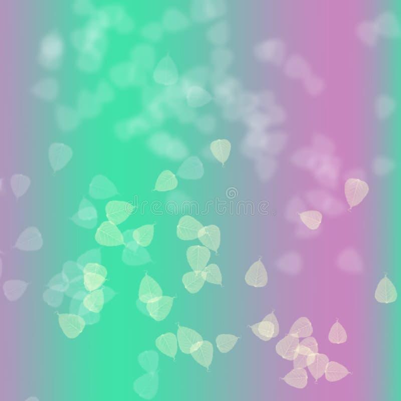 Rosa y verde en fondo abstracto imagenes de archivo