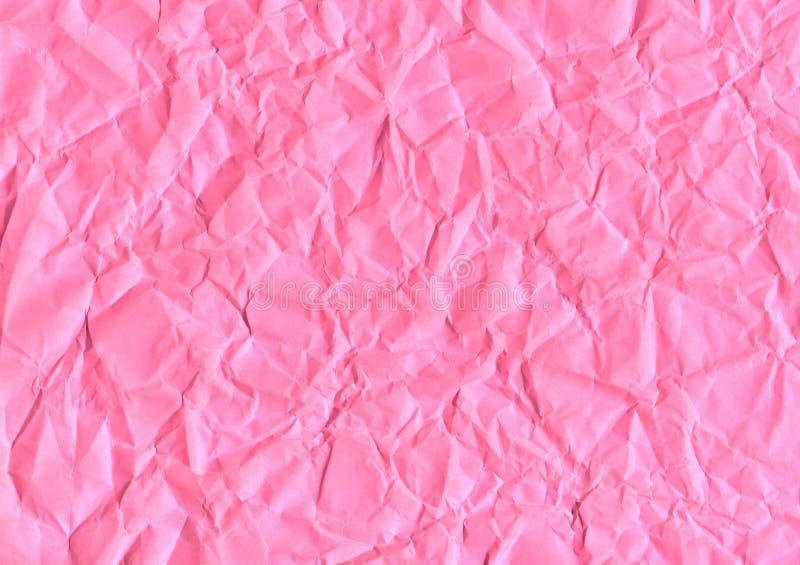 Rosa zerknittertes Papier lizenzfreie stockfotografie