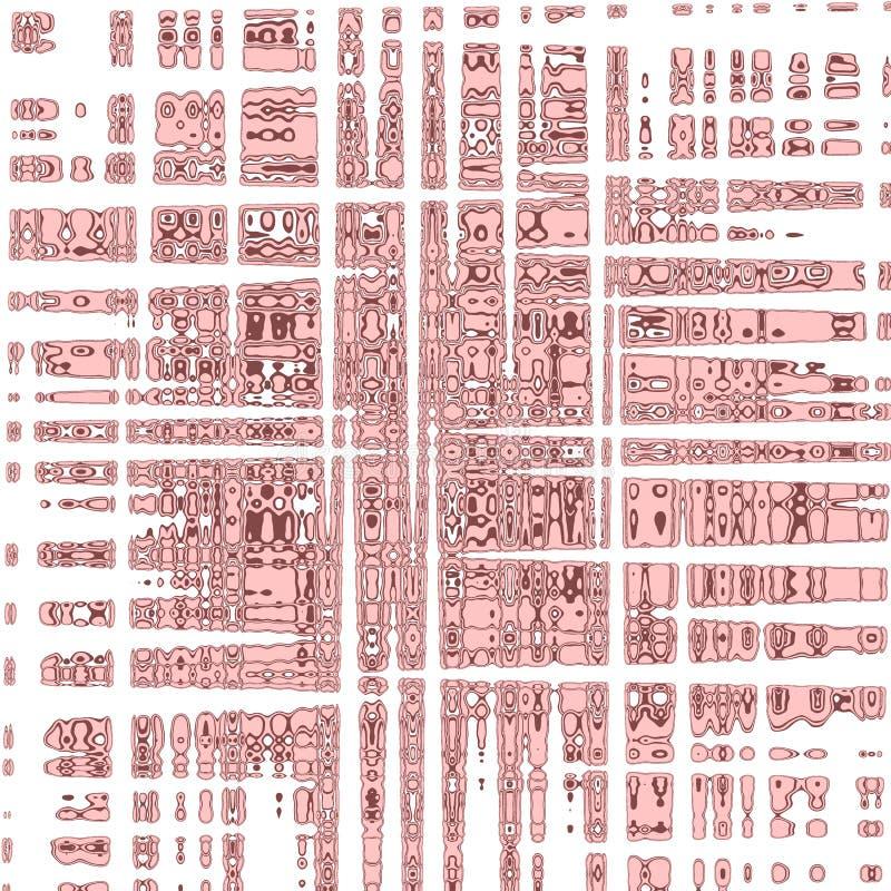 Rosados abstractos creativos palidecen textura con las tiras stock de ilustración