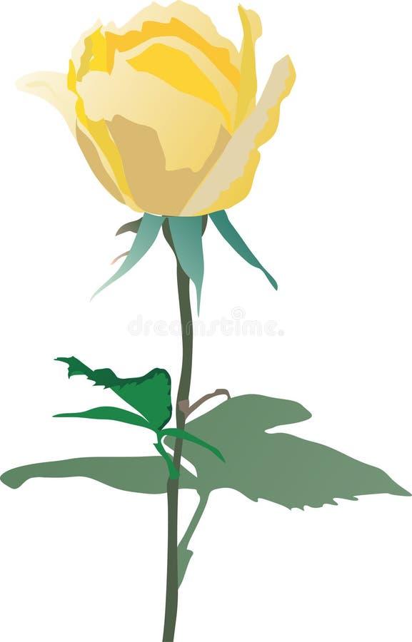 Rosafarbene Abbildung des Gelbs stock abbildung