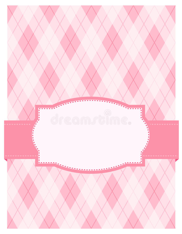 Rosafarbene argyle Hintergrundkarte vektor abbildung
