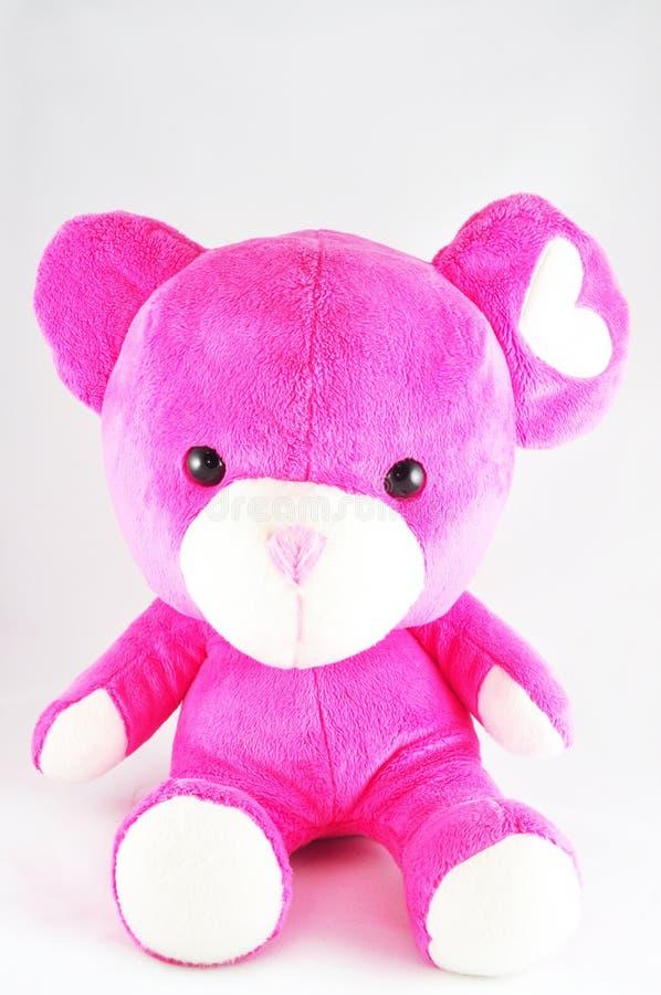 Rosafarbene Bärenpuppe stockbilder