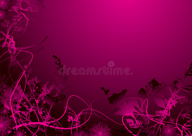 Rosafarbene Blume stock abbildung