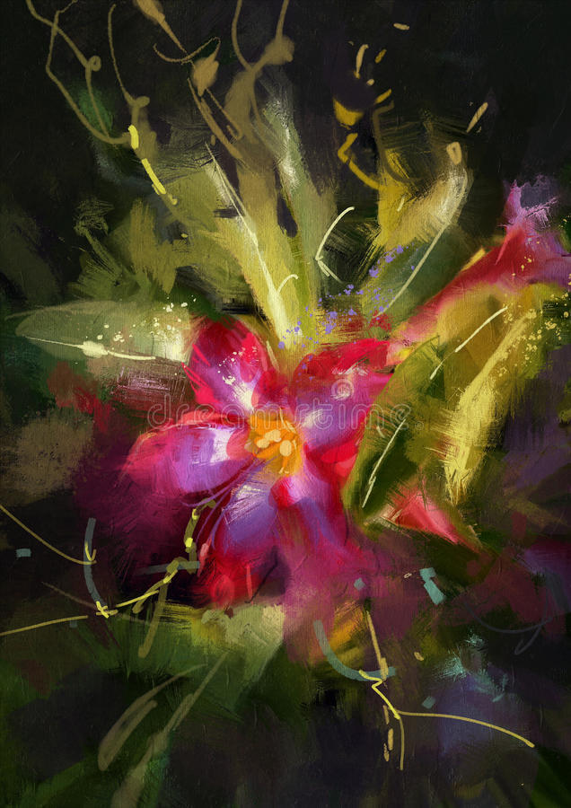 Rosafarbene Blume der Wüste vektor abbildung