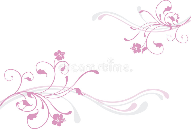Rosafarbene Blumen vektor abbildung