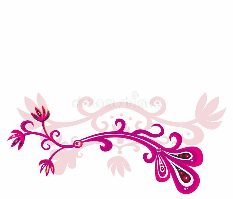 Rosafarbene Blumenauslegung vektor abbildung