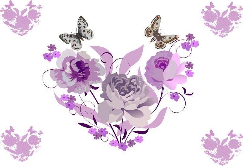 Rosafarbene Blumeninnere stock abbildung