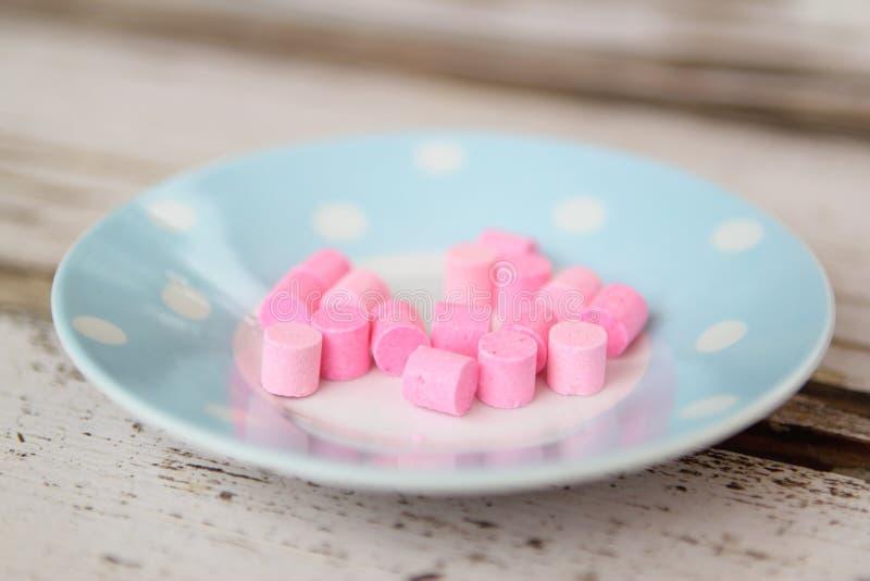 Rosafarbene Bonbons lizenzfreie stockfotos